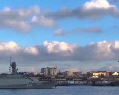 В состав Черноморского флота принят новейший малый ракетный корабль «Грайворон»