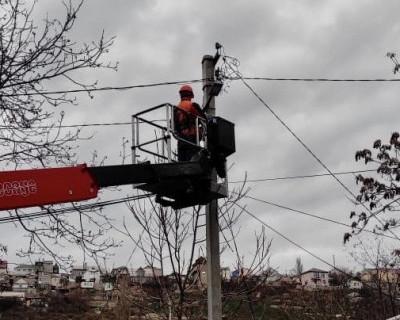 В Нахимовском районе Севастополя проводится модернизация сетей наружного освещения