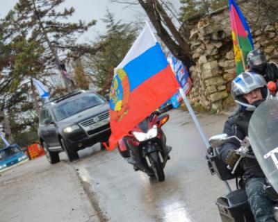 Дорога домой: в Севастополе прошел мотопробег «Ночных волков»
