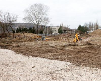 В Инкермане началось строительство бассейна