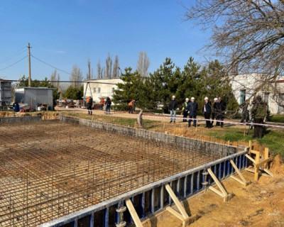 В селе Орловка начали строить канализационные очистные сооружения