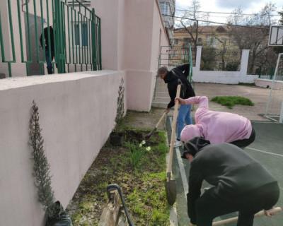 Сотрудники природоохранной прокуратуры приняли участие в озеленении территории