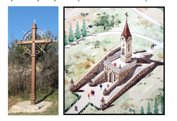 Поклонный Крест и проект мемориальной Часовни в районе  Максимовой дачи