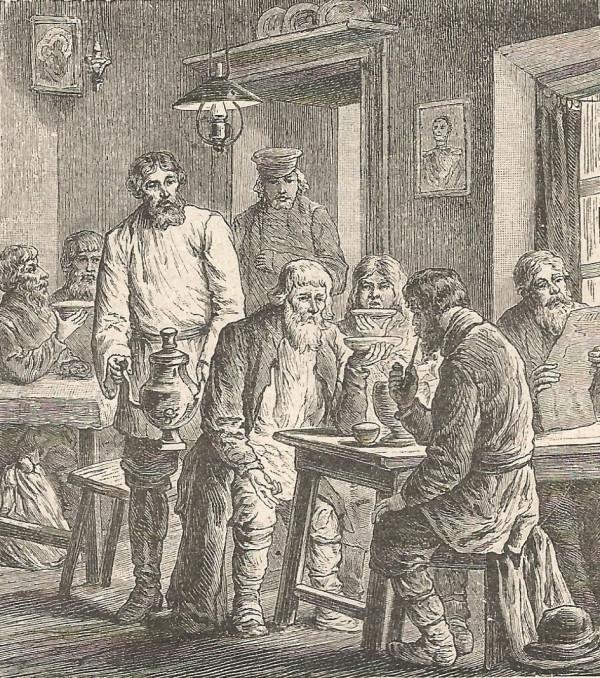 крестьяне в трактире
