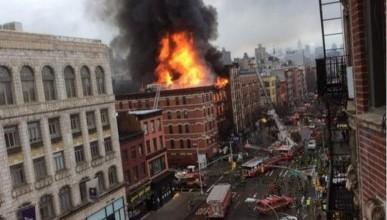Огненный ад в Нью-Йорке (видео)