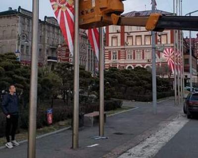 Владивосток ко Дню Победу украсили флагами ВМС Японии