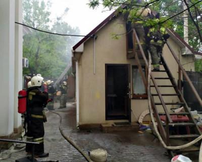 В Севастополе загорелась церковь