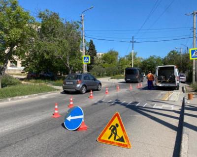 Севавтодор обновит разметку более 1000 пешеходных переходов