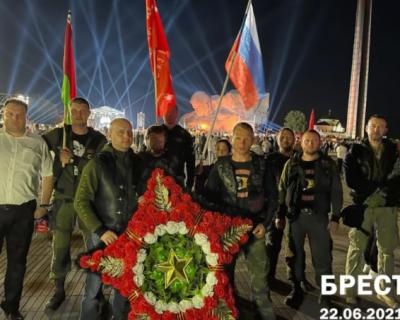 «Ночные волки» почтили память погибших в годы Великой Отечественной войны (ВИДЕО, ФОТО)