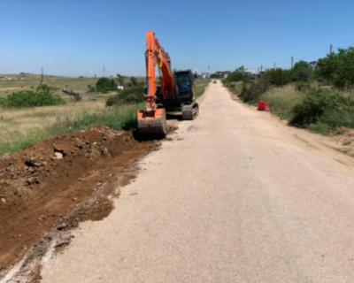 В Севастополе начался ремонт дороги на улице Тисовая