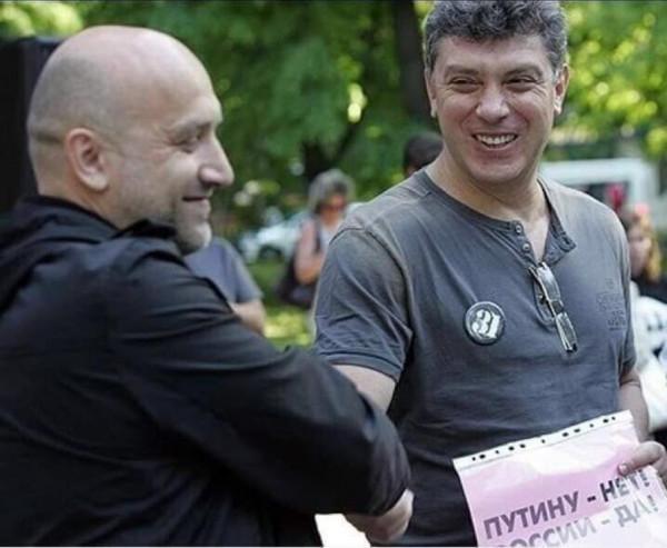 Захар Прилепин и его уже погибший друг. Если бы был жив, то выдвигался бы в депутаты вместо Старикова