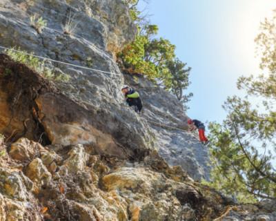 Открыт новый участок туристического скального маршрута «Виа феррата»