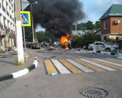 Взрыв в гостинице в Геленджике (ВИДЕО)