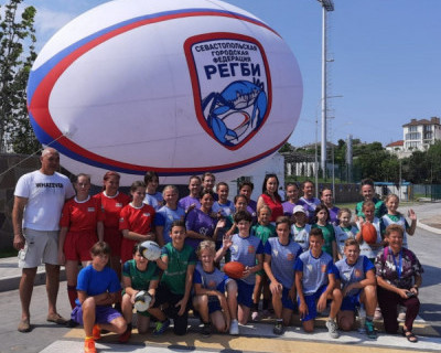 Севастопольские регбисты провели первую тренировку на стадионе им. 200-летия Севастополя