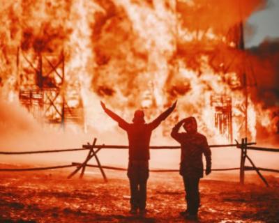 В Севастополе сгорели квартира и баня