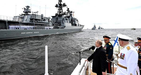 Владимир Путин поздравил с Днём Военно-Морского Флота
