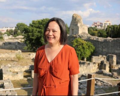 Херсонес посетила бельгийский эксперт в области культурной дипломатии