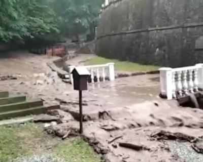 Мужской монастырь пострадал во время наводнения в районе Алушты