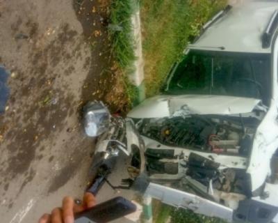 Велосипед столкнулся с внедорожником в Феодосии