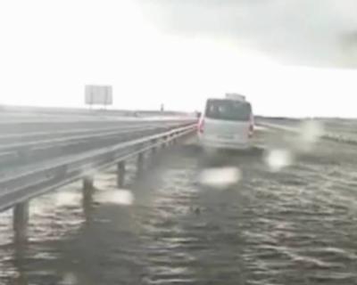 В Крыму затопило трассу «Таврида»