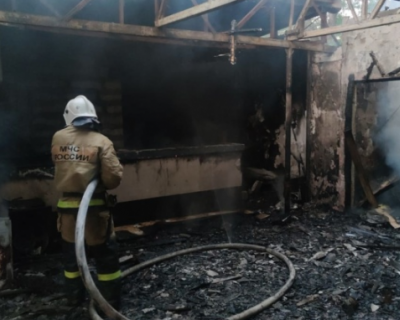 В Феодосии сгорело кафе