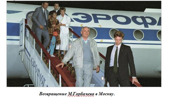 возвращение горбачева в Москву