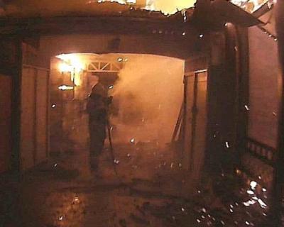 В Симферополе сгорел продуктовый магазин