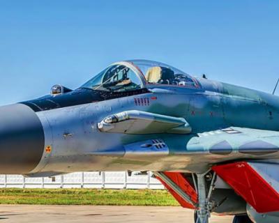 В Астраханской области сгорел МиГ-29