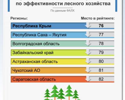 Крым в последней десятке по эффективности лесного хозяйства
