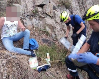 Турист упал в пропасть в районе Аю-Дага