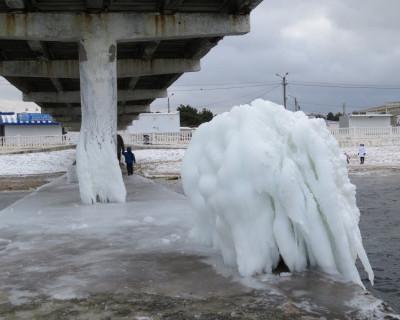 Ледяные скульптуры в Парке «Победы»