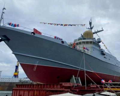 В Керчи спустили на воду малый ракетный корабль «Аскольд»