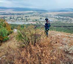 В Севастополе обнаружили 153 миномётные мины