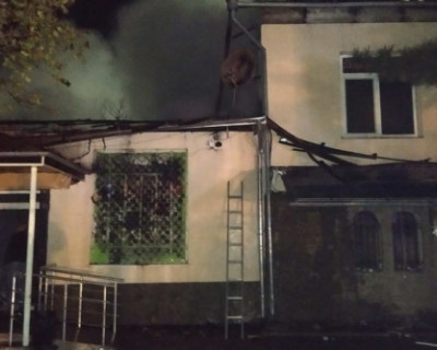 В крымском селе сгорел магазин