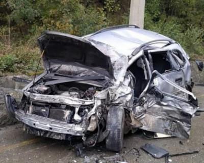 Грузовик столкнулся с автомобилем на трассе Алушта-Ялта