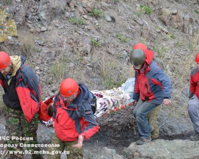 У мыса Фиолент мужчина упал со скалы (фото)